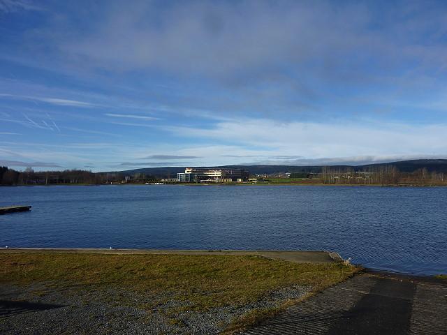 Blick zum Kurzentrum über den Weißenstädter See