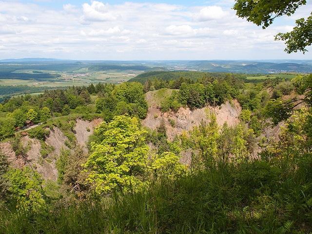 Aussicht oberhalb des Kraters